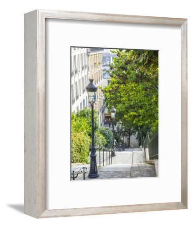 Stairs leading up to Montmartre-Sylvia Gulin-Framed Photographic Print