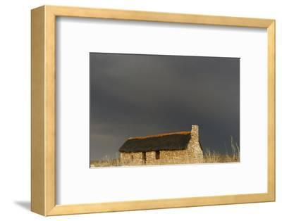 A stone house on the desert. Kgalagadi Transfrontier Park, South Africa-Keren Su-Framed Photographic Print