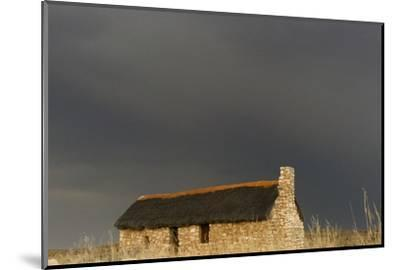 A stone house on the desert. Kgalagadi Transfrontier Park, South Africa-Keren Su-Mounted Photographic Print