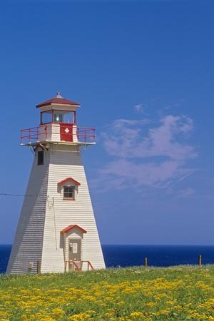 Canada, Prince Edward Island, Cape Tryon. Cape Tryon Lighthouse.-Jaynes Gallery-Framed Photographic Print