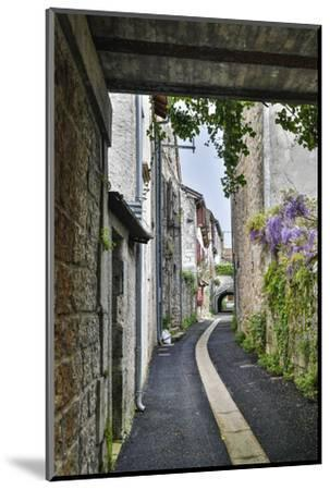 France, Cajarc. Narrow alley.-Hollice Looney-Mounted Photographic Print