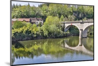 France, Lot River. Stone bridge over the Lot River.-Hollice Looney-Mounted Photographic Print