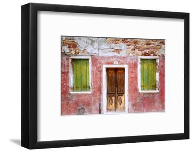 Italy, Veneto, Burano. Weathered house exterior.-Jaynes Gallery-Framed Photographic Print