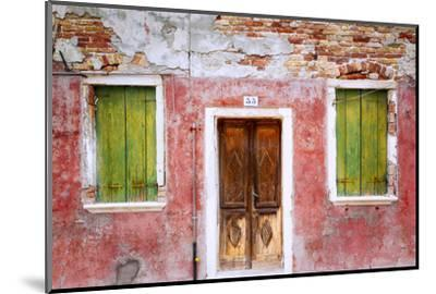 Italy, Veneto, Burano. Weathered house exterior.-Jaynes Gallery-Mounted Photographic Print