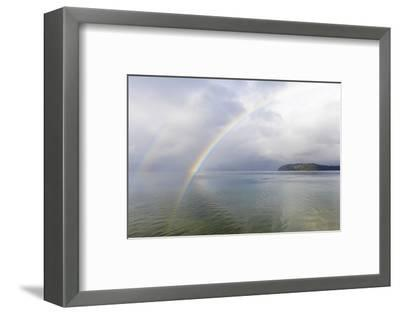 USA, Washington State, Seabeck. Rainbow over Hood Canal.-Jaynes Gallery-Framed Photographic Print