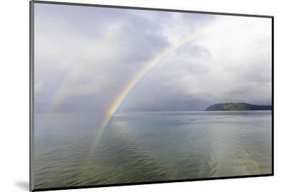 USA, Washington State, Seabeck. Rainbow over Hood Canal.-Jaynes Gallery-Mounted Photographic Print