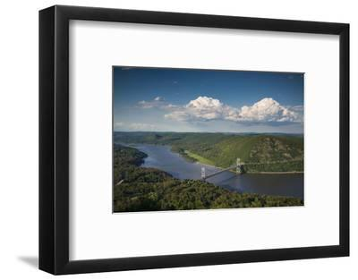 USA, New York, Bear Mountain State Park. elevated view of the Bear Mountain Bridge-Walter Bibikow-Framed Photographic Print