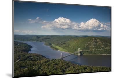 USA, New York, Bear Mountain State Park. elevated view of the Bear Mountain Bridge-Walter Bibikow-Mounted Photographic Print