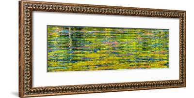 Abstract reflection of Lake Washington. Kirkland, Washington State.-William Perry-Framed Photographic Print