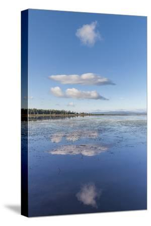 USA, Vermont, South Hero. View of Lake Champlain-Walter Bibikow-Stretched Canvas Print