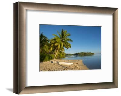 Les Tipaniers Hotel. Tiahura, Moorea, French Polynesia.-Douglas Peebles-Framed Photographic Print