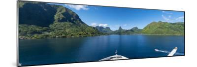 Opuhunu Bay. Moorea, French Polynesia.-Douglas Peebles-Mounted Photographic Print