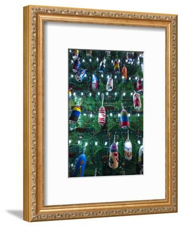 USA, Massachusetts, Cape Ann, Gloucester. Christmas Tree made of lobster traps-Walter Bibikow-Framed Photographic Print