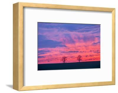 Sunset. Marion County, Illinois.-Richard & Susan Day-Framed Photographic Print