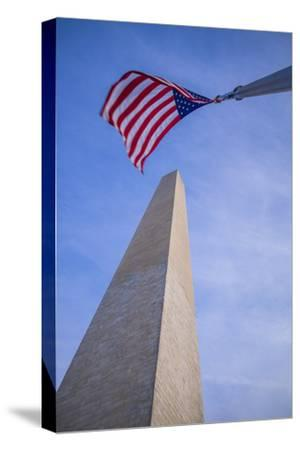 USA, Washington D.C. National Mall, Washington Monument-Walter Bibikow-Stretched Canvas Print