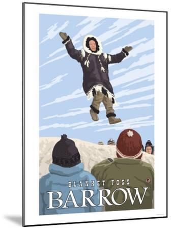 Alaska Blanket Toss, Barrow, Alaska-Lantern Press-Mounted Art Print