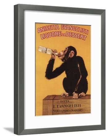 Italy - Anisetta Evangelisti Liquore da Dessert Promotional Poster-Lantern Press-Framed Art Print