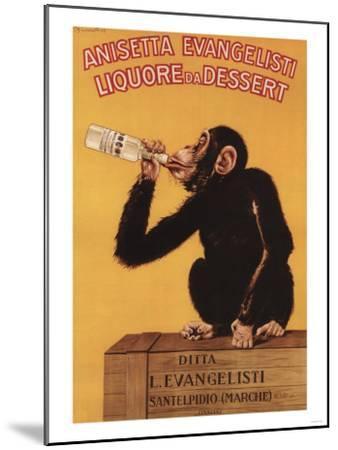 Italy - Anisetta Evangelisti Liquore da Dessert Promotional Poster-Lantern Press-Mounted Art Print
