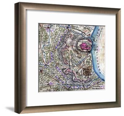Battle of Fort Donelson - Civil War Panoramic Map-Lantern Press-Framed Art Print
