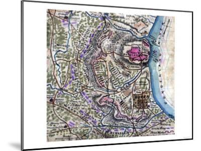 Battle of Fort Donelson - Civil War Panoramic Map-Lantern Press-Mounted Art Print