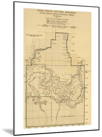 Grand Canyon National Park - Panoramic Map-Lantern Press-Mounted Art Print