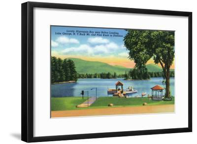 Lake George, New York - Algonquin Bay View of Buck Mt and Pilot Knob-Lantern Press-Framed Art Print
