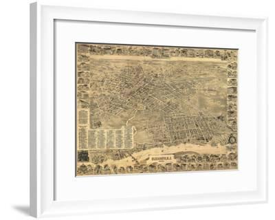 Elizabeth, New Jersey - Panoramic Map-Lantern Press-Framed Art Print