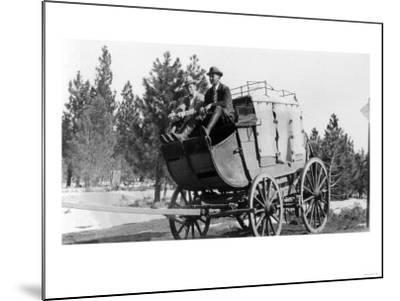 Stagecoach on the Way to Walker Mine - Portola, CA-Lantern Press-Mounted Art Print
