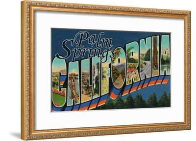 Palm Springs, California - Large Letter Scenes-Lantern Press-Framed Art Print