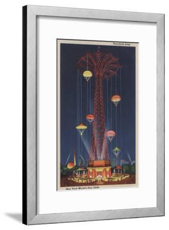 New York City, NY - Parachute Jump at World's Fair-Lantern Press-Framed Art Print