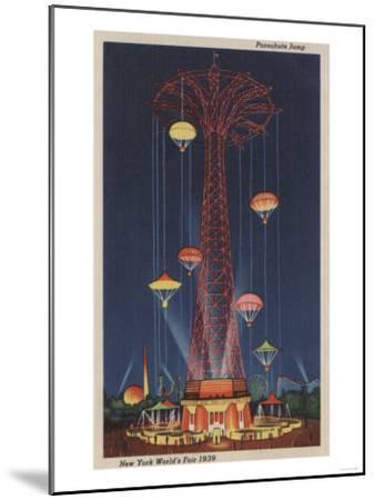 New York City, NY - Parachute Jump at World's Fair-Lantern Press-Mounted Art Print