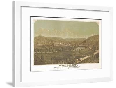 Philippi, West Virginia - Panoramic Map-Lantern Press-Framed Art Print