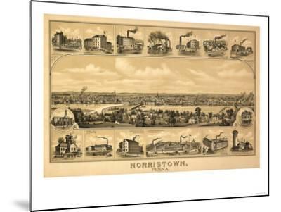 Norristown, Pennsylvania - Panoramic Map-Lantern Press-Mounted Art Print