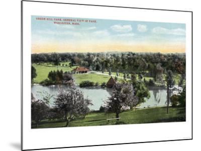 Worcester, Massachusetts - View of Green Hill Park-Lantern Press-Mounted Art Print