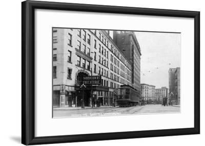 Seattle, Washington - Exterior View of Moore Theatre, Second Ave-Lantern Press-Framed Art Print