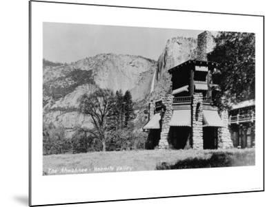 Yosemite, CA - The Ahwahnee Lodge and Valley Photo-Lantern Press-Mounted Art Print