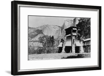 Yosemite, CA - The Ahwahnee Lodge and Valley Photo-Lantern Press-Framed Art Print