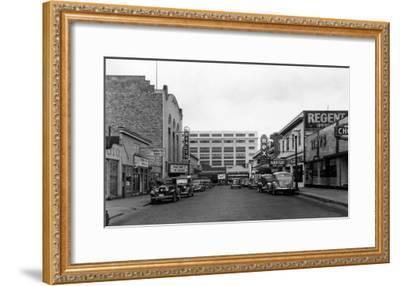 Bremerton, WA Street Scene Town View Photograph - Bremerton, WA-Lantern Press-Framed Art Print