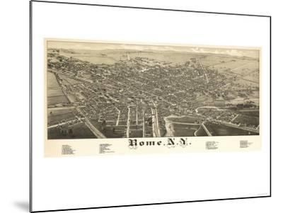 Rome, New York - Panoramic Map-Lantern Press-Mounted Art Print