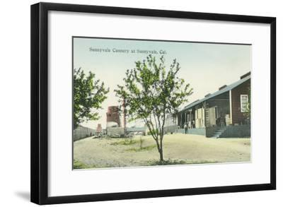 Exterior View of the Sunnyvale Cannery - Sunnyvale, CA-Lantern Press-Framed Art Print