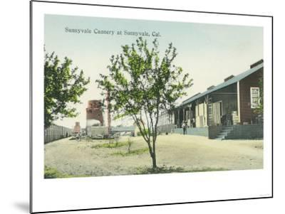 Exterior View of the Sunnyvale Cannery - Sunnyvale, CA-Lantern Press-Mounted Art Print