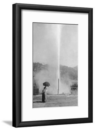 View of the Myrtledale Geyser - Calistoga, CA-Lantern Press-Framed Art Print