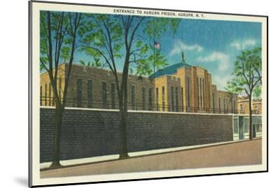 Auburn, New York - Entrance View to the Auburn Prison-Lantern Press-Mounted Art Print