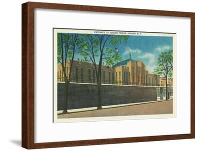 Auburn, New York - Entrance View to the Auburn Prison-Lantern Press-Framed Art Print