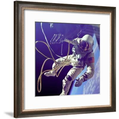 Ed White First American Spacewalker Photograph - Cape Canaveral, FL-Lantern Press-Framed Art Print