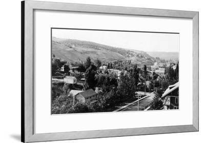 Colfax, Washington Birds Eye View Photograph - Colfax, WA-Lantern Press-Framed Art Print