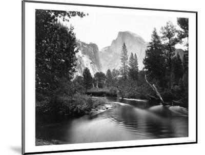 Yosemite National Park, Valley Floor and Half Dome Photograph - Yosemite, CA-Lantern Press-Mounted Art Print