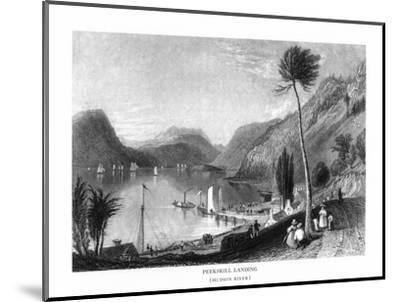Peekskill, New York, View of the Hudson River from Peekskill Landing-Lantern Press-Mounted Art Print