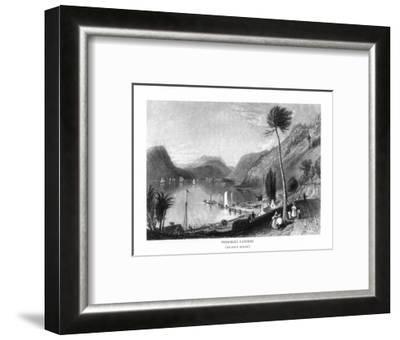 Peekskill, New York, View of the Hudson River from Peekskill Landing-Lantern Press-Framed Art Print