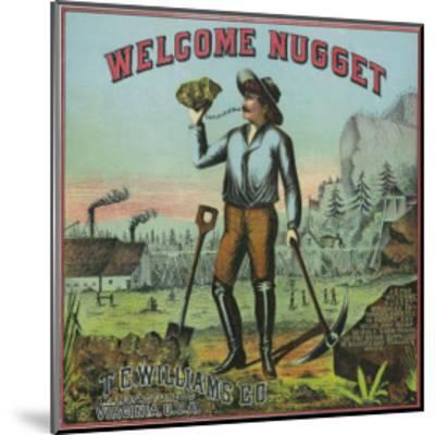 Virginia, Welcome Nugget Brand Tobacco Label-Lantern Press-Mounted Art Print